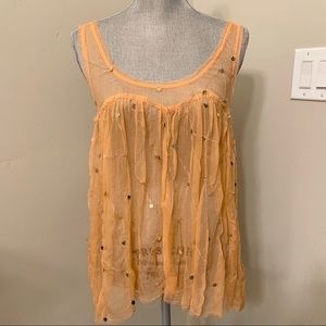 Free people sequin tank sM